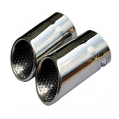 Rupse Chrome Exhaust Muffler Tip for VW EOS Passat CC 2008 2009 2010 2011 2012