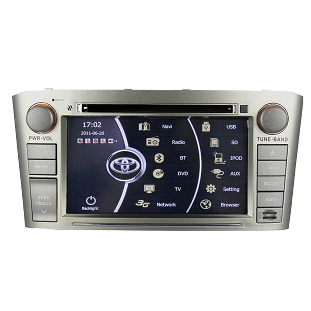 Rupse For 2003-2007 Toyota Avensis Indash DVD GPS Navigation multimedia entainment system With Auto radio DVD Player/ Bluetooth handsfree / Steering wheel control (Silver)