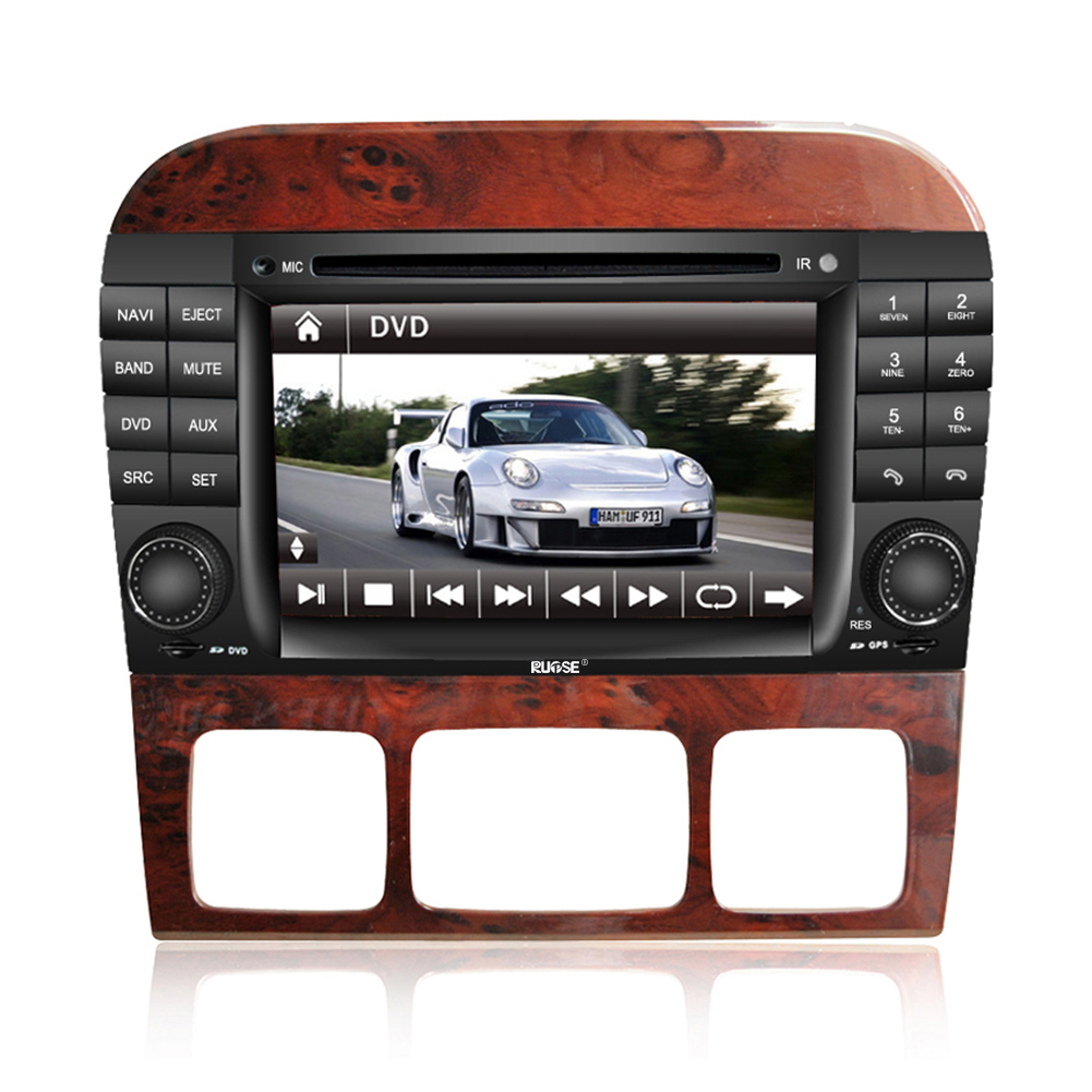 Rupse For MERCEDES Benz S W220 (1998-2005) S320 / S430 / S500 / S600 DVD Player In-Dash Car DVD Player GPS Navigation System With HD iPod Control / Phonebook /Radio /Subwoofer Out /Steering Wheel Control