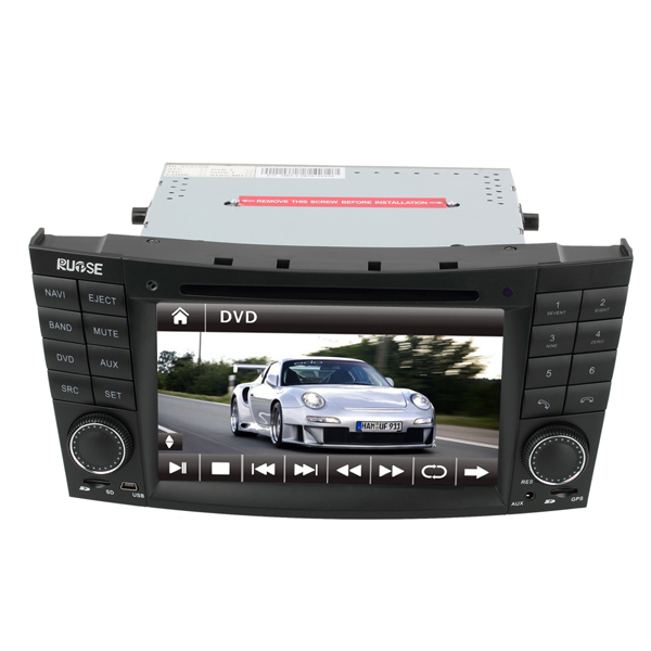 Rupse 7 Inch HD Touch Screen DVD GPS Navigation System with iPod Bluetooth for MERCEDES Benz E-W211 / CLS W219